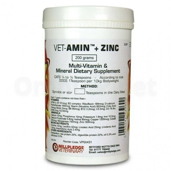 Vet Amin + Zinc 200 g