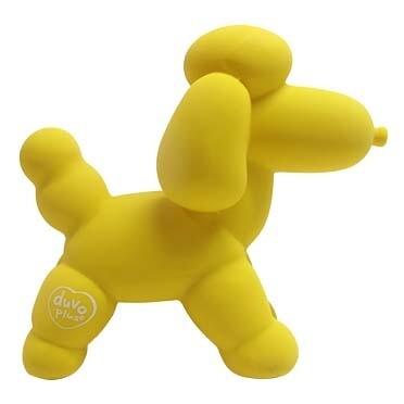Speeltje Duvo Latex Poodle Geel