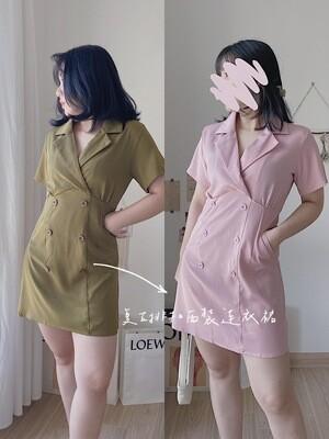 Vintage Suit Dress | 复古西装排扣连衣裙