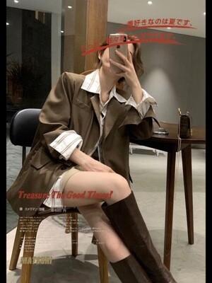 Designer Loose Fitting Blazer | 韩版宽松设计师西装外套