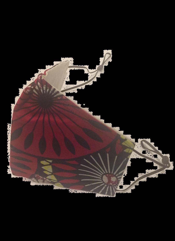 Handmade mask redflower design *3 LAYER*