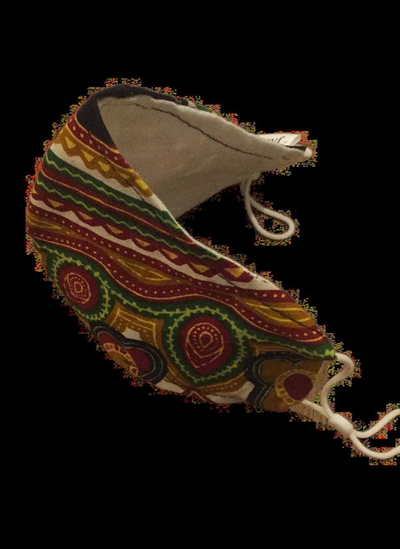 Handmade mask afro design small