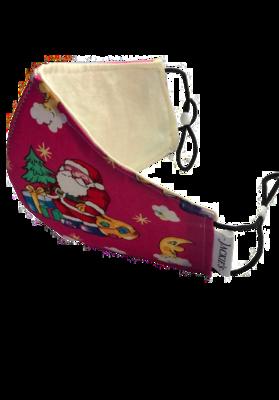 Handmade mask pink christmas design small size *3 LAYER*