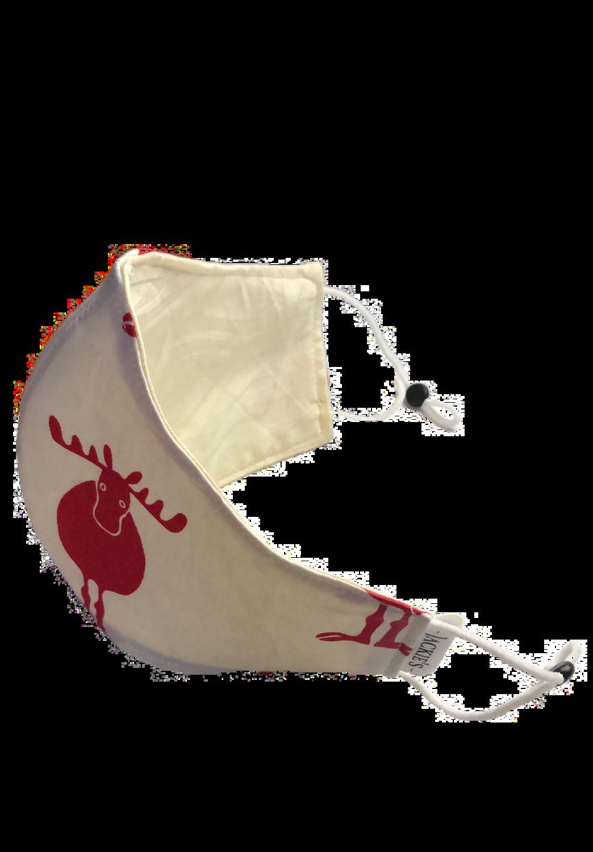 Handmade mask white reindeer design *3 LAYER*