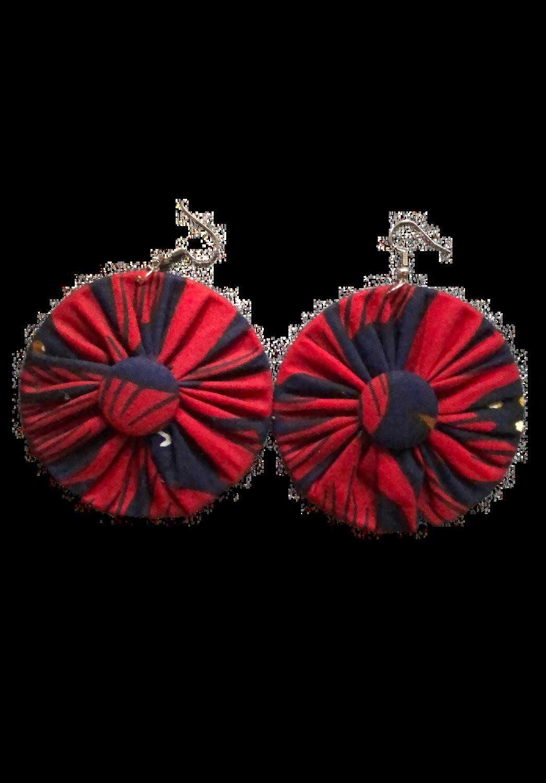 Red African print earrings