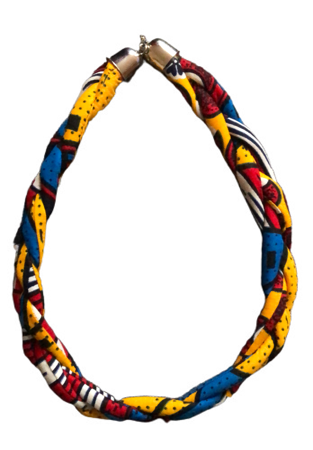 Mixed African print necklace