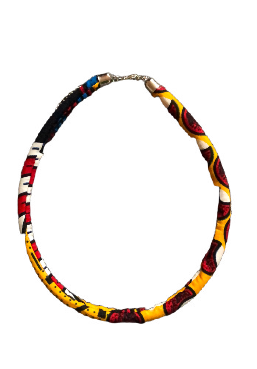 Yellow African print necklace