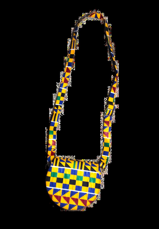 Yellow African design handbag