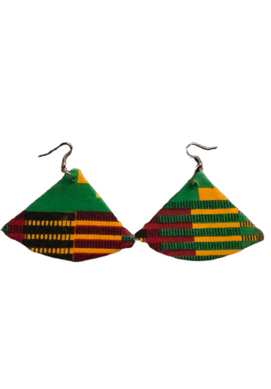 Mixed African print earring