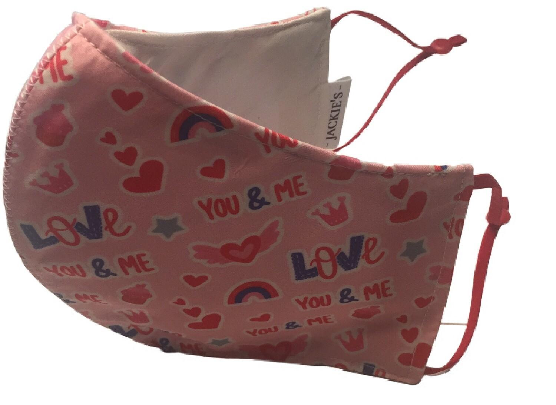 You & me baby *3 LAYER* handgemaakt katoenen mondmasker