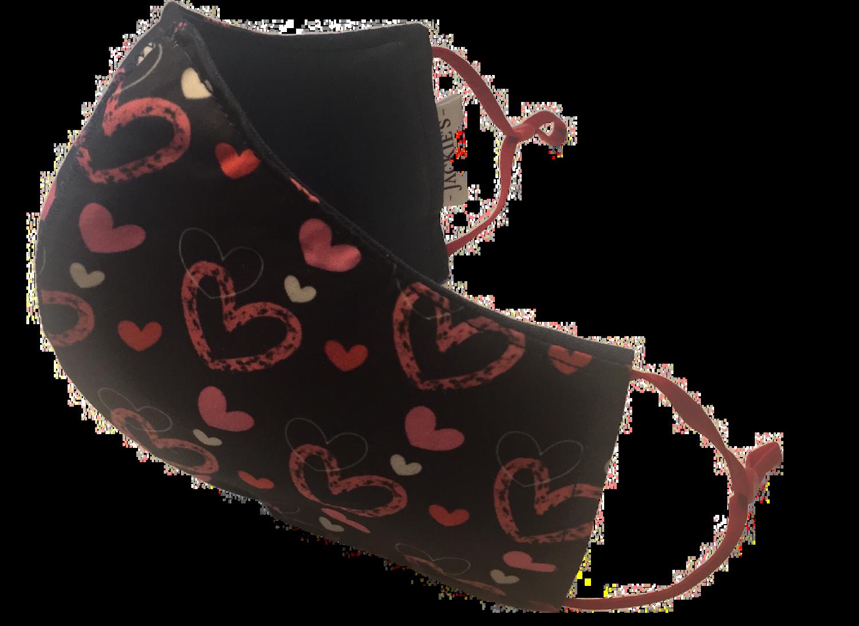 Shine your heart *3 LAYER* handgemaakt katoenen mondmasker