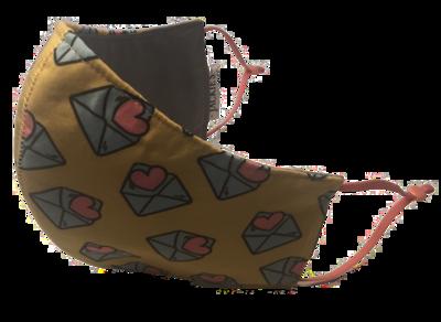 Love Letter *3 LAYER* handgemaakt katoenen mondmasker