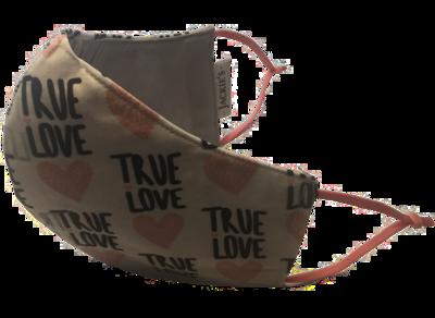 True Love *3 LAYER* handgemaakt katoenen mondmasker