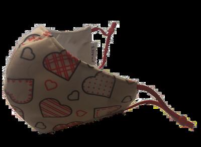 Pattern to my Heart *3 LAYER* handgemaakt katoenen mondmasker