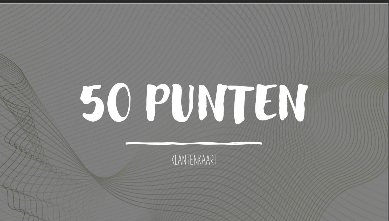 KLANTENKAART 50 PUNTEN
