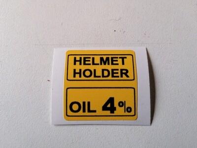 4 % sticker