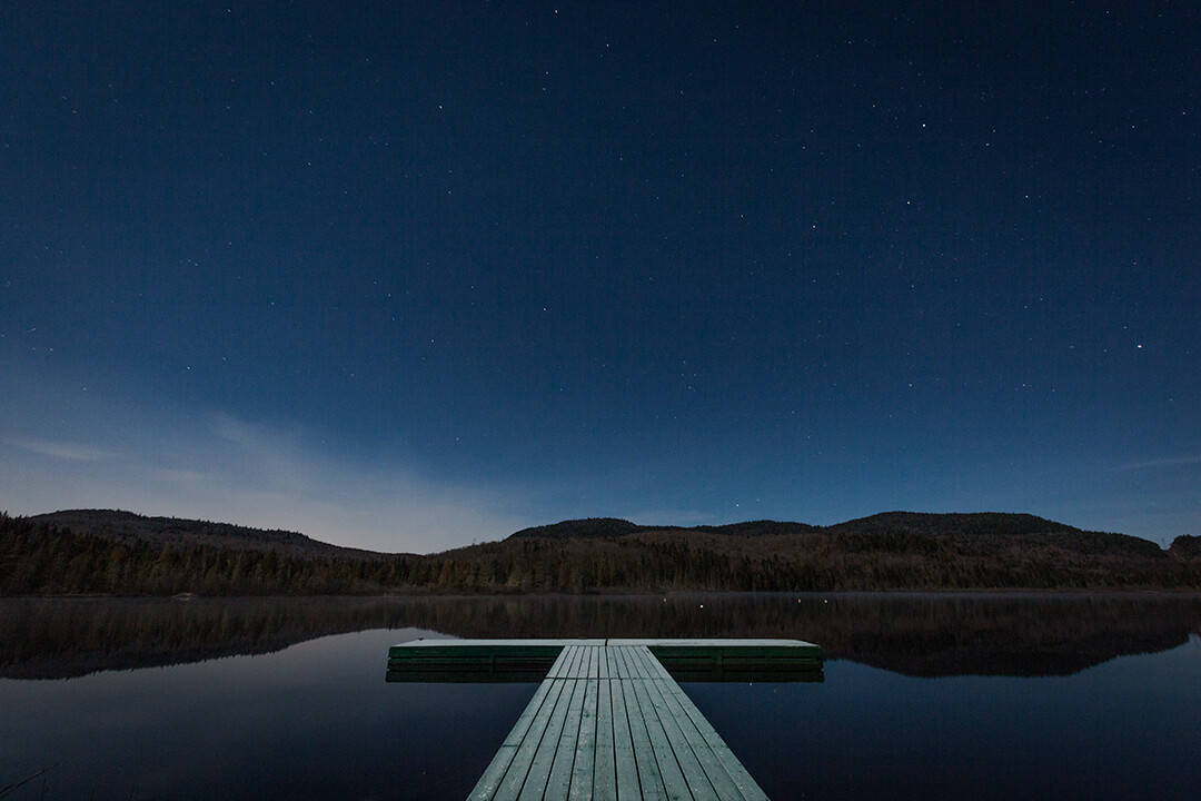 DOCK BY THE LAKE - SAINT DONAT | CANADA