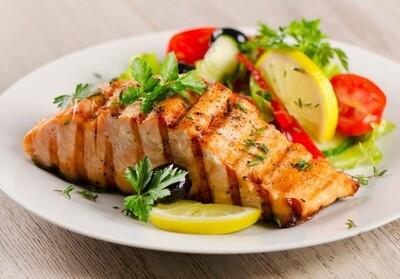 Salmon w/ side of veggies