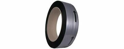 PP band 12x0,63x200mm  2.500m  Zwart
