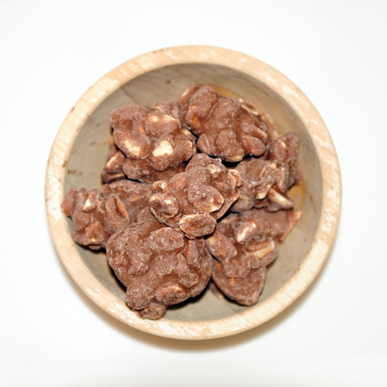 Rotsjes melk chocolade pinda