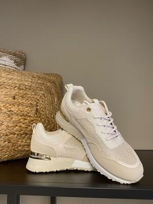 Sneaker beige/goud