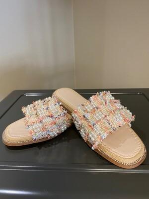 Sandaal tricolor/parel