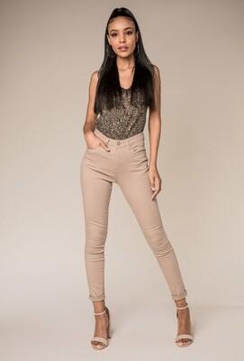 Nina Carter jeans taupe