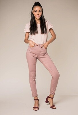 Nina Carter jeans oud roze
