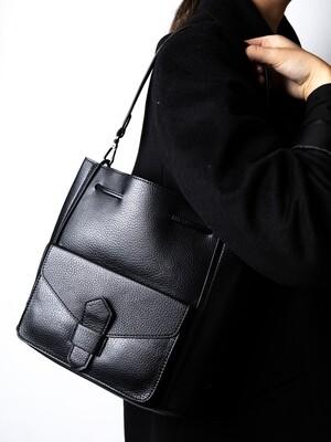 Bag in Bag Schoudertas - Zwart