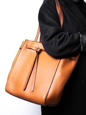 Bag in Bag Shopping bag - Cognac