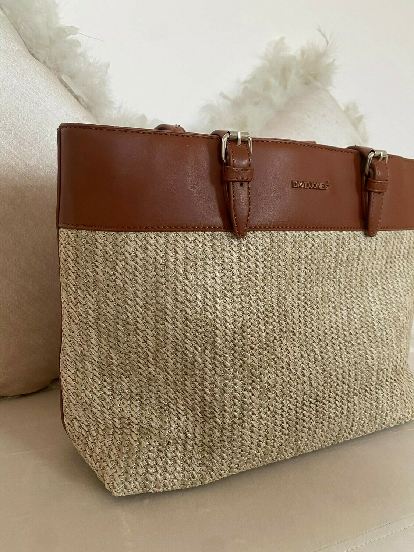 David Jones - Shopping Bag - Cognac