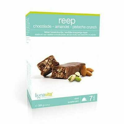 Reep Amandel/Pistache/Chocolade Crunch (etui van 7)