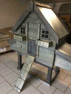 Kippenhok Bavaria 10 Metalen dak en mestlade
