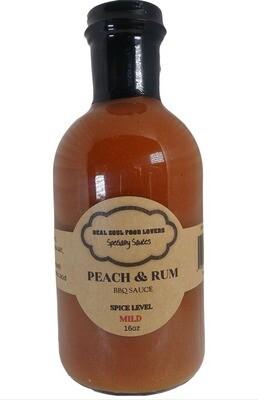 Peach & Rum BBQ Sauce 16oz