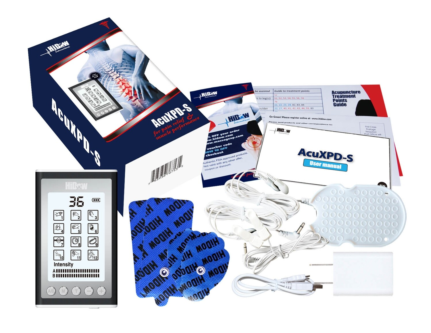 AcuXPD-S Combo with Neck Wrap, AcuBelt, AcuWrist & Perfect Conductor Spray