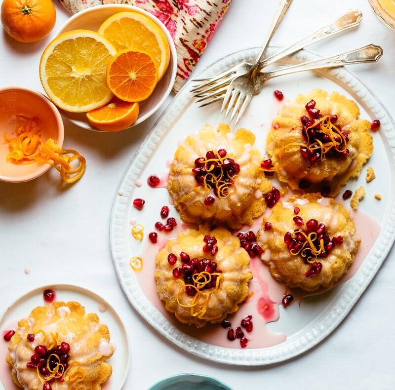 Mini Orange Bundt Cakes