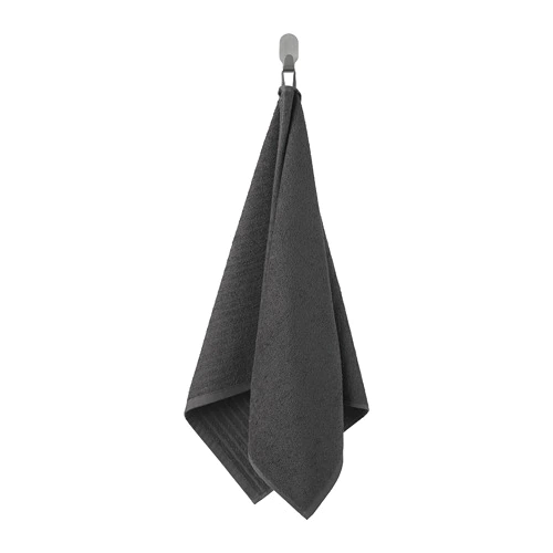ВОГШЁН Полотенце, темно-серый 100x50 см