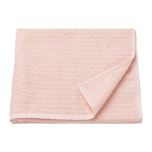 ВОГШЁН Банное полотенце, бледно-розовый  70х140