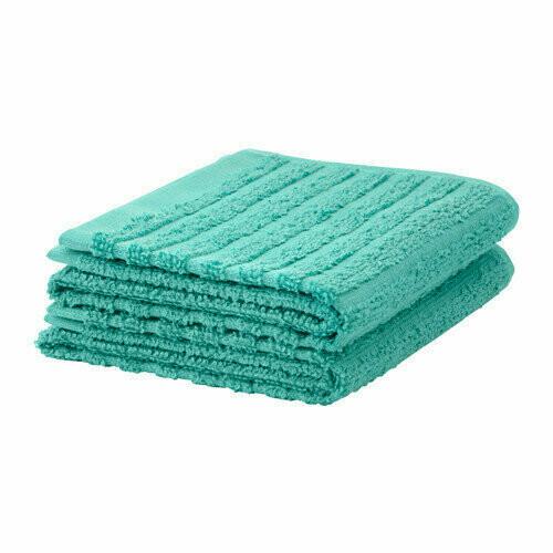 ВОГШЁН Банное полотенце, бирюзовый 70x140 см