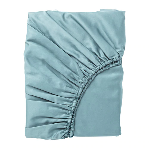 НАТТЭСМИН Простыня натяжная, синий, 160х200 см