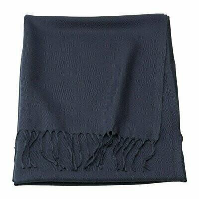 МАРИАКЛОККА, плед темно-синий, 130x190 см