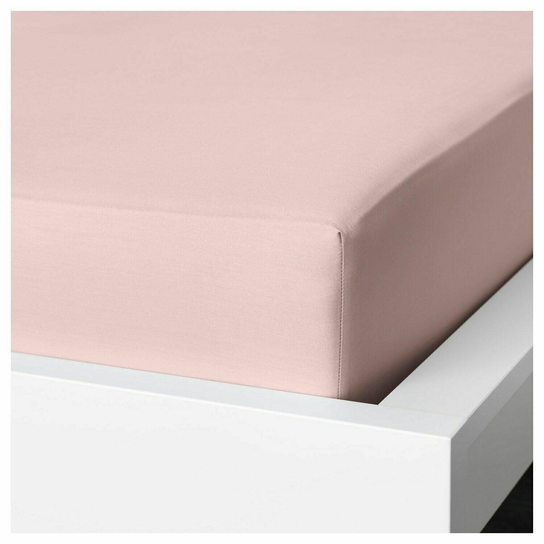 Простыня натяжная, ДВАЛА, розовый, 180x200 см