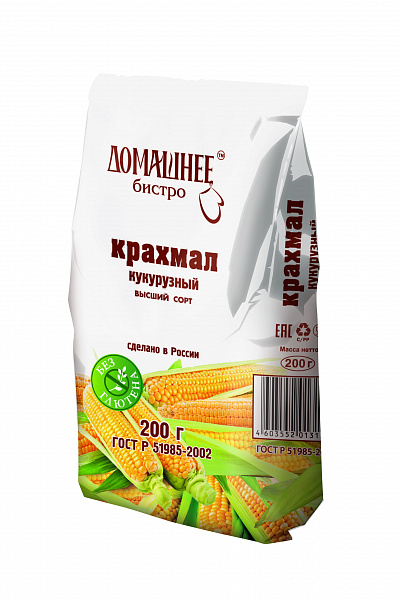 Крахмал кукурузный Домашнее Бистро в/с 200г