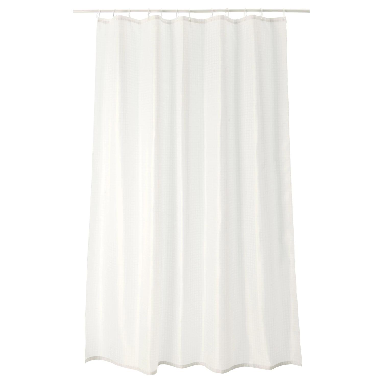 Штора для ваннойСАКСЭЛЬВЕН, белый,180x200 см