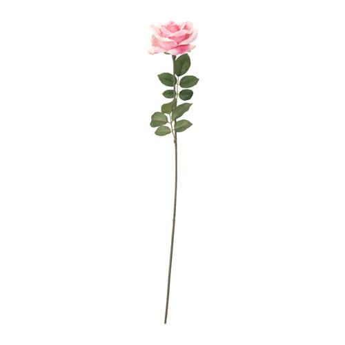 СМИККА Цветок искусственный Роза, розовый 75 см