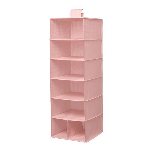 СТУК Модуль для хранения/7 отделений, розовый    30x30x90 см