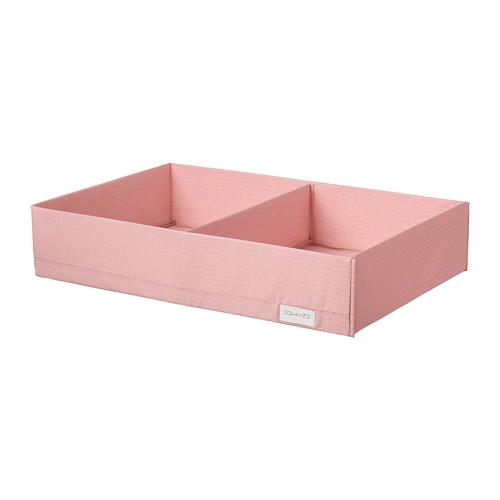 СТУК  Ящик с отделениями, розовый, 34x51x10 см