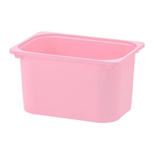ТРУФАСТ Контейнер, розовый 42x30x23