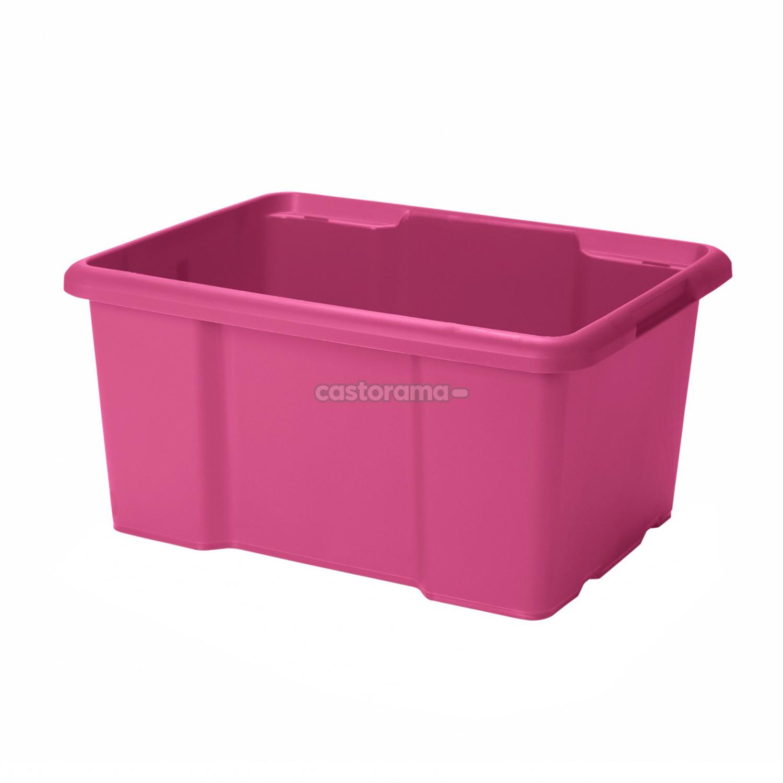 Ящик 23 х 36,5 х 45,5 см, 26 л, розовый