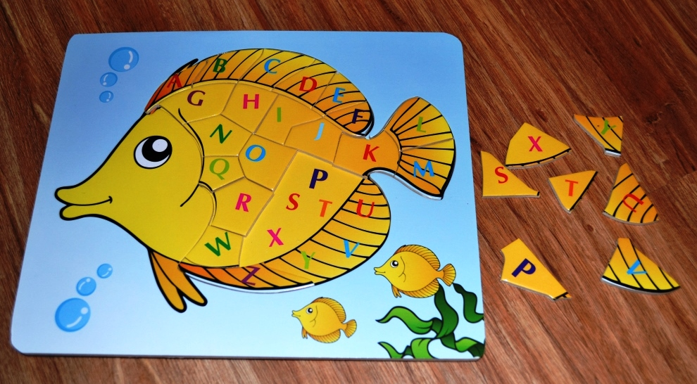 "Рамка вкладыш учим английский язык ""Рыбка""  20х24"